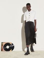 Midi Skirt In Jacquard Fabric : Skirts & Shorts color Black