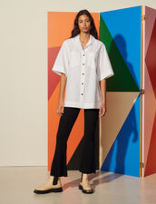 Oversized Organic Cotton Shirt : Shirts color white