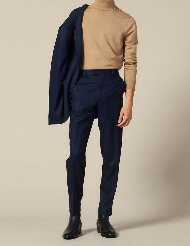 Wool Suit Trousers : Sale color Navy Blue