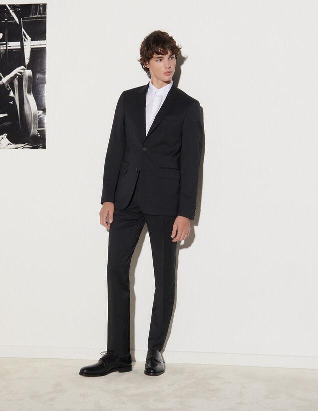 Wool Suit Jacket : Jackets & Coats color Black