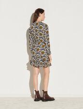 Short Printed Dress : Dresses color Ecru / Black