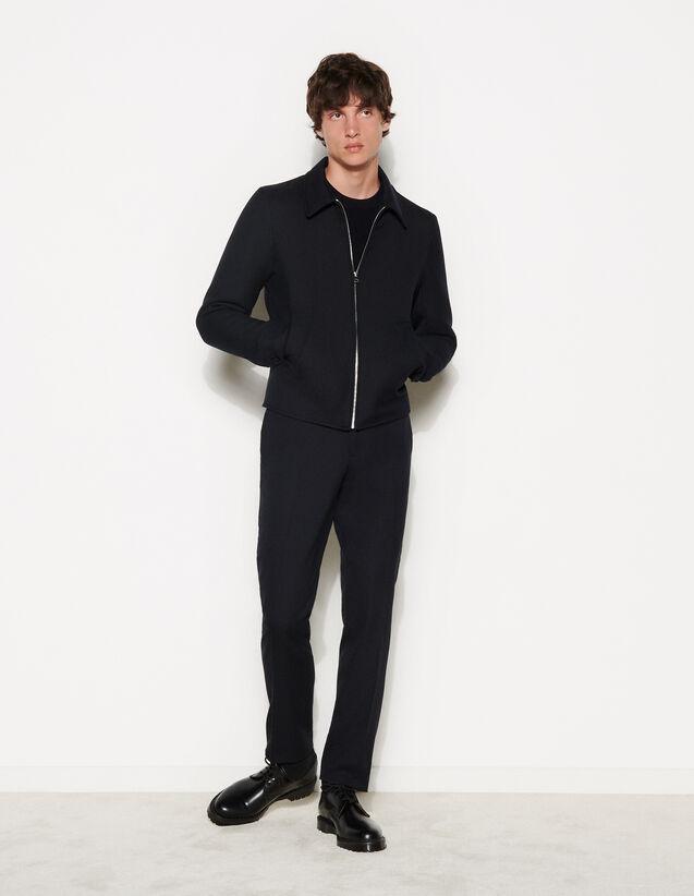 Zip-Up Jacket : Trench coats & Coats color Navy Blue