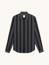 Striped Flowing Shirt : Shirts color white