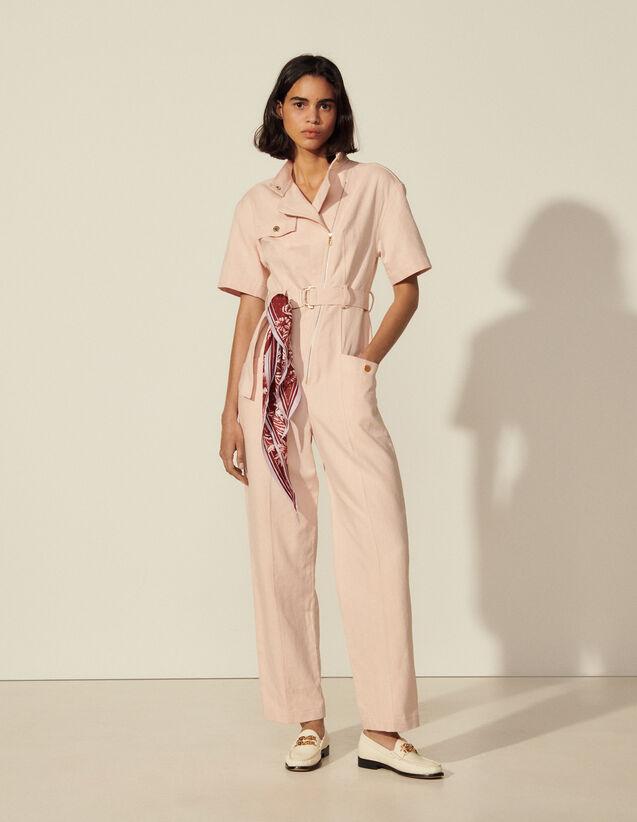 Serge Fabric Jumpsuit : Jumpsuits color Pink