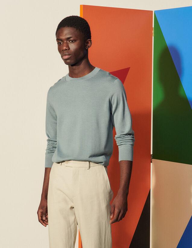 Wool Sweater : Sweaters & Cardigans color Ecru