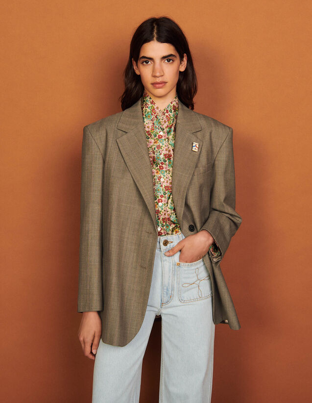 Tailored Jacket : Blazers & Jackets color Taupe