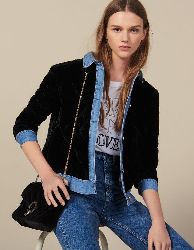 Quilted Velvet Jacket : Blazer & Jacket color Black