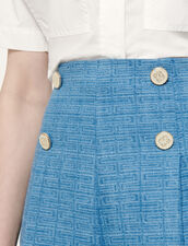 Jacquard Denim Shorts : Skirts & Shorts color Blue Jean