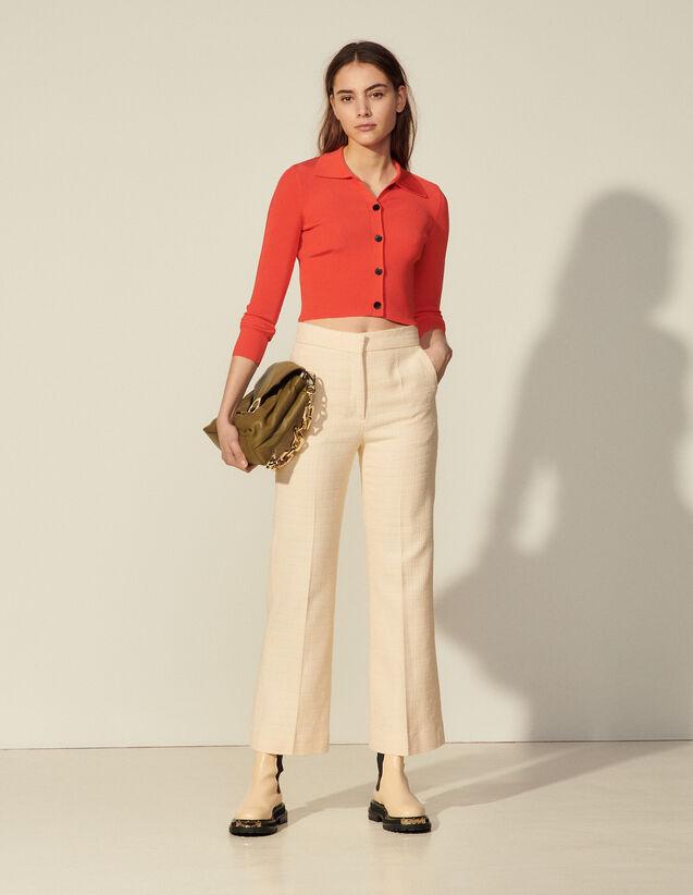 Tweed Trousers : Pants color Vanilla