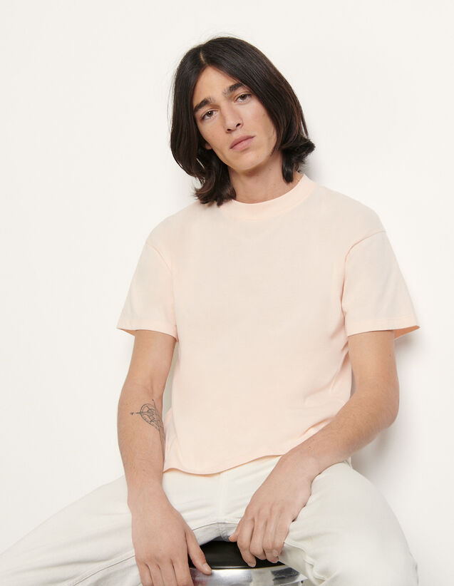 Brushed Cotton T-Shirt : T-shirts & Polo shirts color white