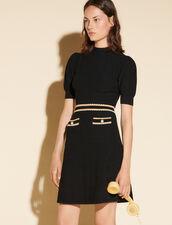 Houndstooth Jacquard Dress : Dresses color Black