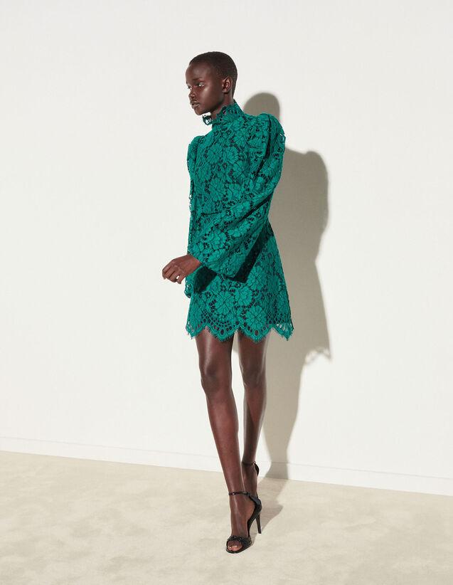 Short Lace Dress : Dresses color Emeuraude Green