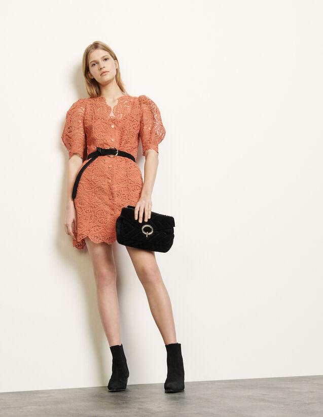 Lace Coat Dress : Dresses color Coral