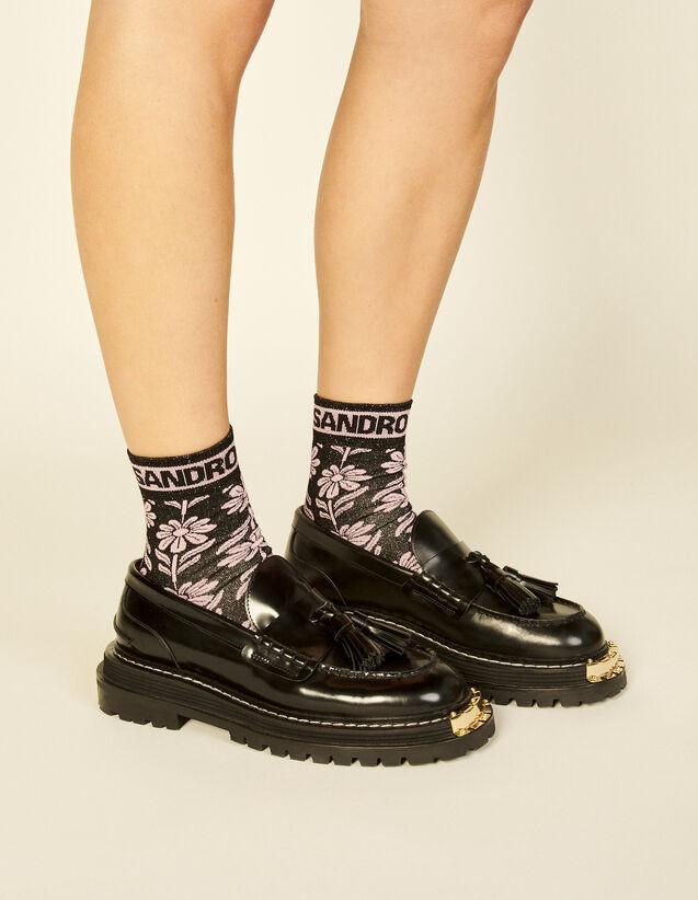Daisy Jacquard Socks : Socks color Black