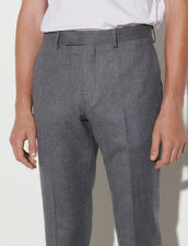 Flannel Suit Trousers : Pants & Shorts color Grey