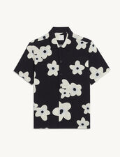 Flowing Printed Shirt : Shirts color Flower-White-black-grey