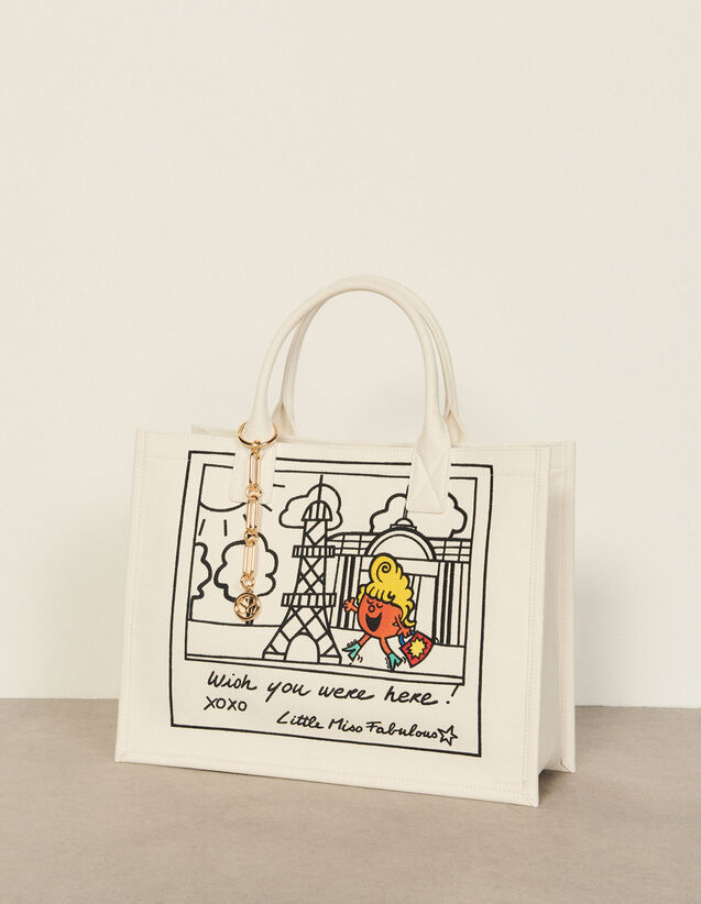 Embroidered Tote Bag : Others Bags color Ecru