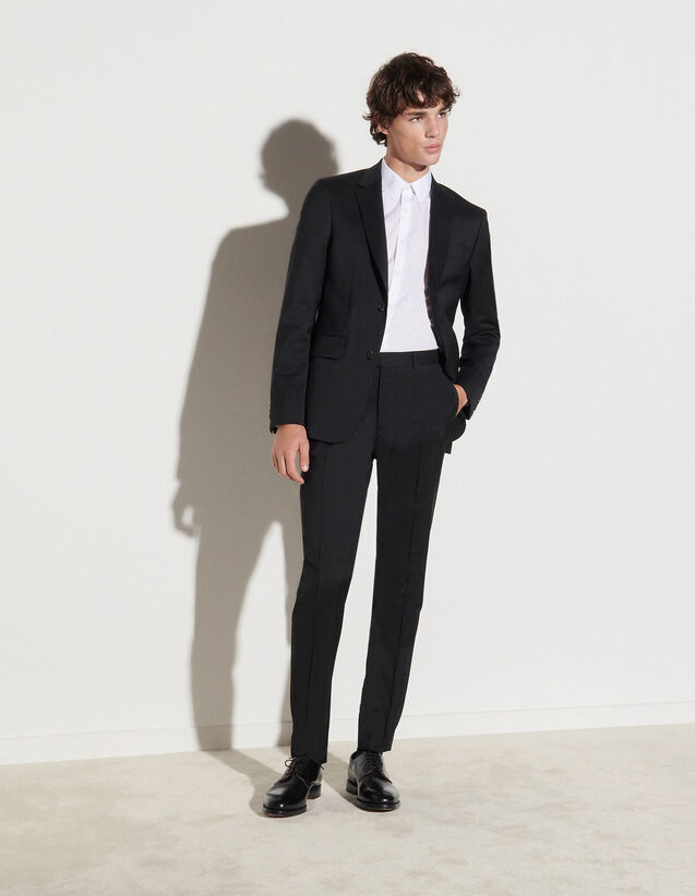 Wool Suit Trousers : Suits & Tuxedos color Black