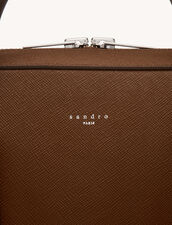 Saffiano Leather Briefcase : Leather Goods color Ice Brown