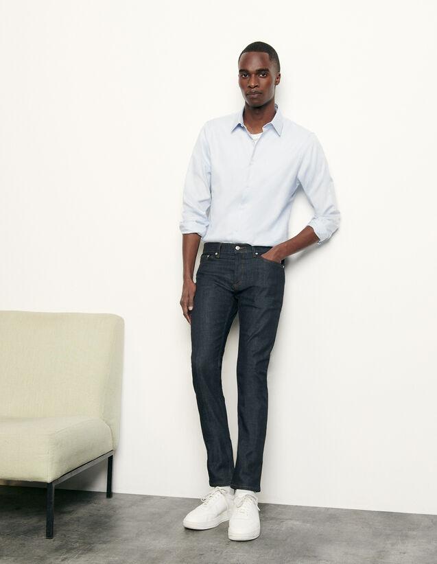 Raw Denim Skinny Jeans : Man essentials color Raw-Denim