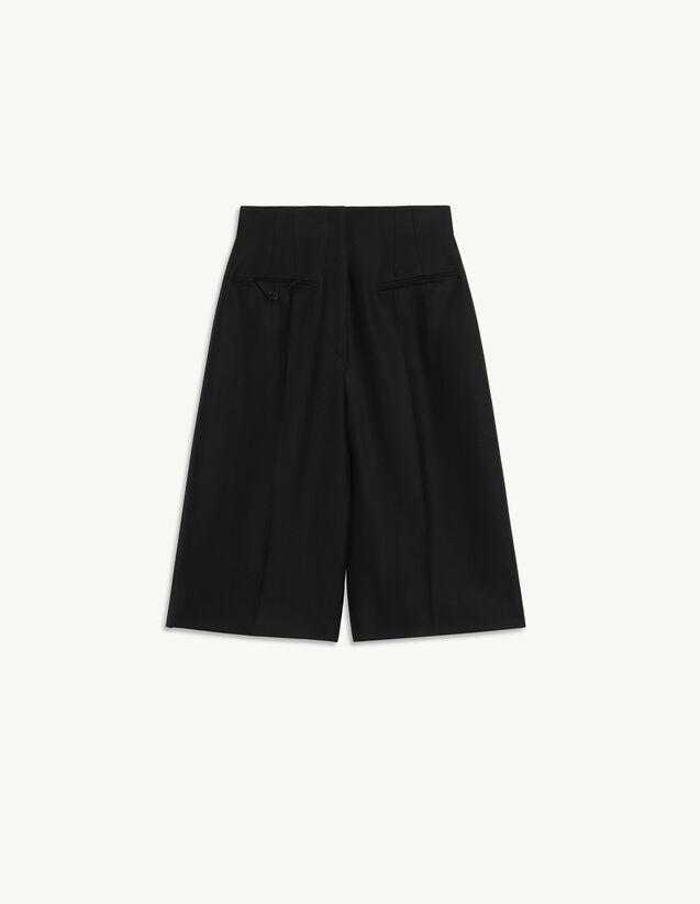 Jacquard Culottes : Pants color Black