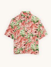 Short-Sleeved Printed Shirt : Shirts color Pink