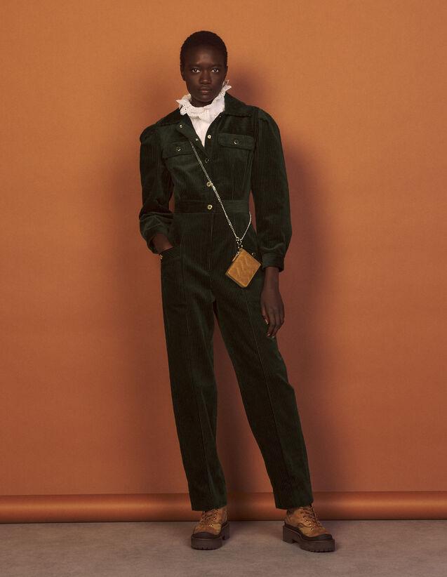 Corduroy Jumpsuit : Jumpsuits color Olive Green
