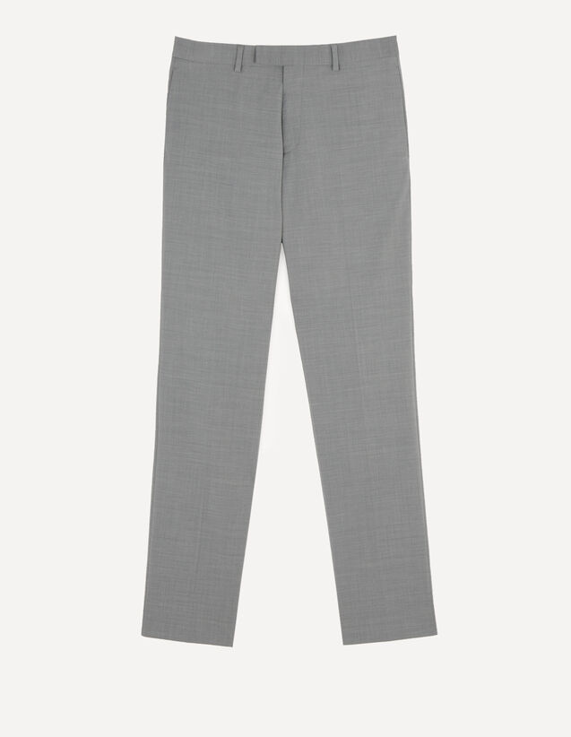 Stretch Suit Trousers : Pants & Shorts color Light Grey Mocked