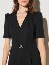 Short Dress With Decorative Buckle : Dresses color Black