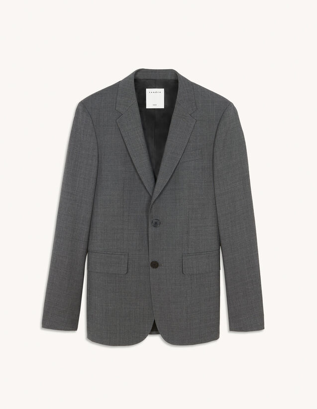 Virgin Wool Suit Jacket : Suits & Tuxedos color Grey