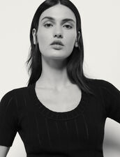 Short-Sleeved Sweater : Sweaters & Cardigans color Black