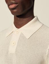 Fancy Knit Polo Shirt : T-shirts & Polo shirts color Ecru