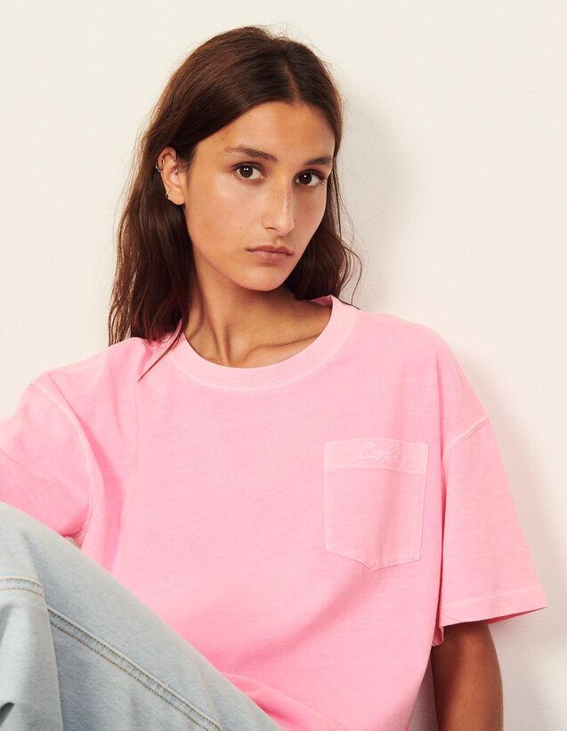 Fluorescent T-Shirt In Organic Cotton : T-shirts color Orange