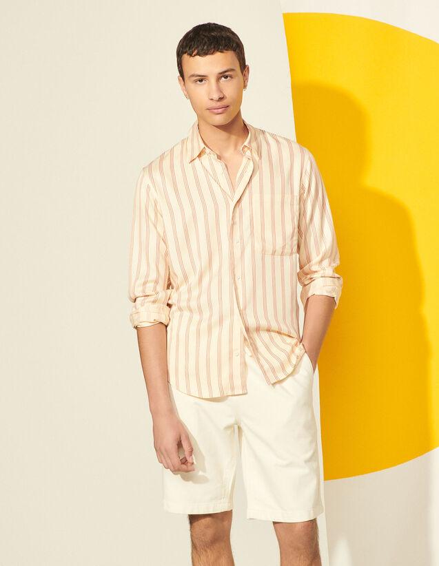 Cotton Shorts : Pants & Shorts color Ecru
