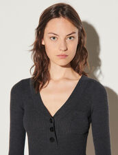 Knitted Bodysuit : Jumpsuits color Charcoal Grey
