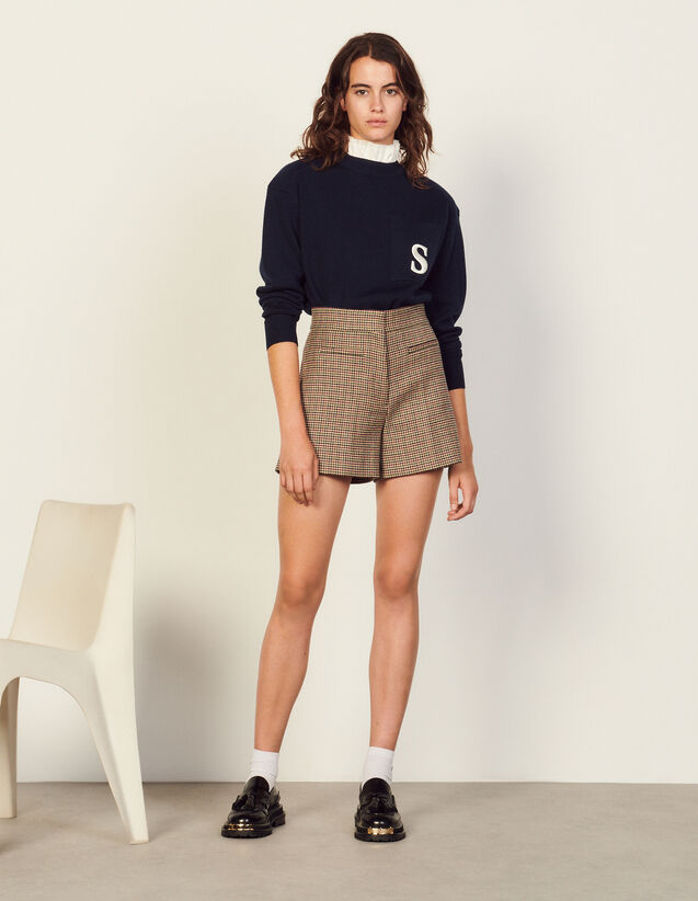 Houndstooth Shorts : Skirts & Shorts color red/green