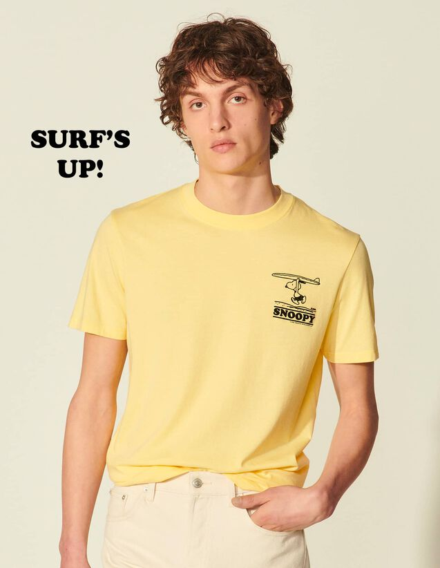Organic Cotton Snoopy T-Shirt : T-shirts & Polo shirts color Yellow