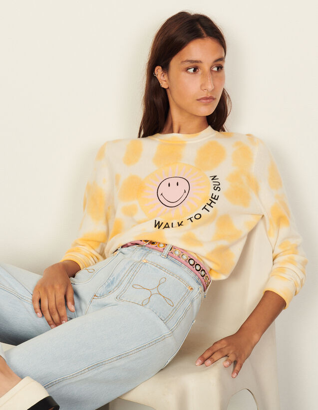 Smiley® Tie-Dye Sweater : Sweaters & Cardigans color Light Yellow