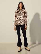Printed Silk Shirt : Shirts color Light Pink