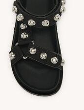 Flat Sandals With Velcro : Shoes color Black