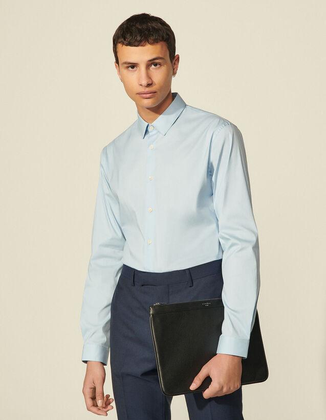 Slim-Fit Classic Shirt : Shirts color white