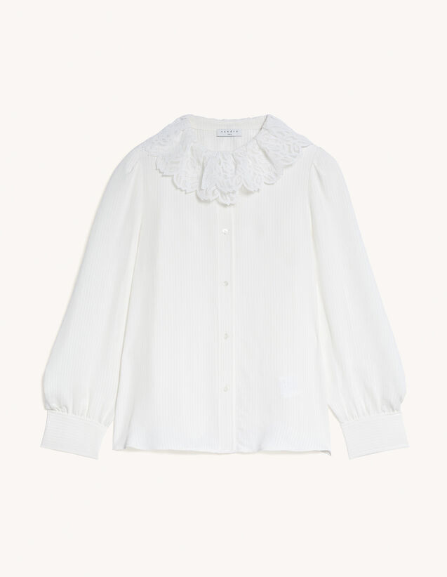 Shirt With Small Lace Collar : Shirts color Ecru