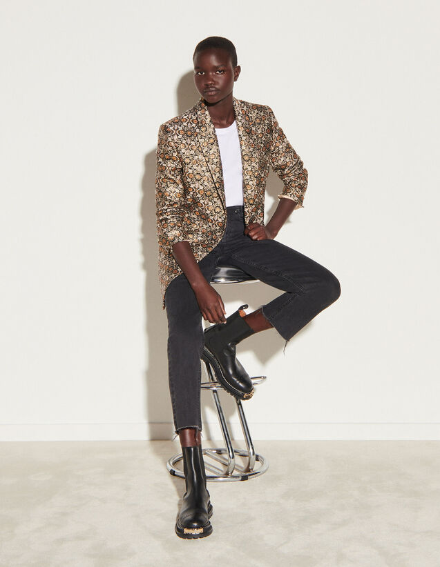 Tailored Brocade Jacket : Blazer & Jacket color Multi-Color