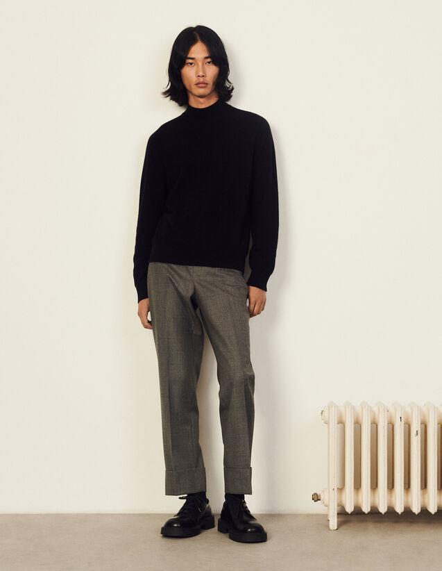 Funnel Neck Cashmere Sweater : Sweaters & Cardigans color Ecru