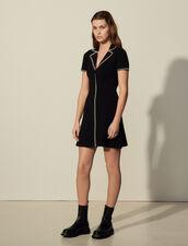 Knitted Shirt Dress : Dresses color Black