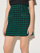 Short Tweed Skirt : Skirts & Shorts color Green / Black