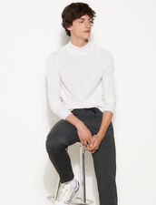 High-Neck Sweater : Sweaters & Cardigans color Ecru