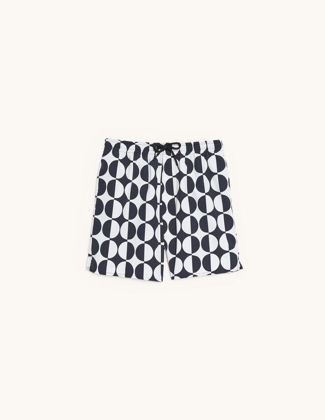 Printed Swim Shorts : Pants & Shorts color Black