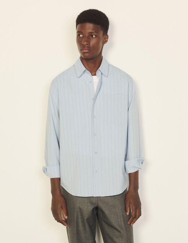 Striped Flowing Shirt : Shirts color Ecru