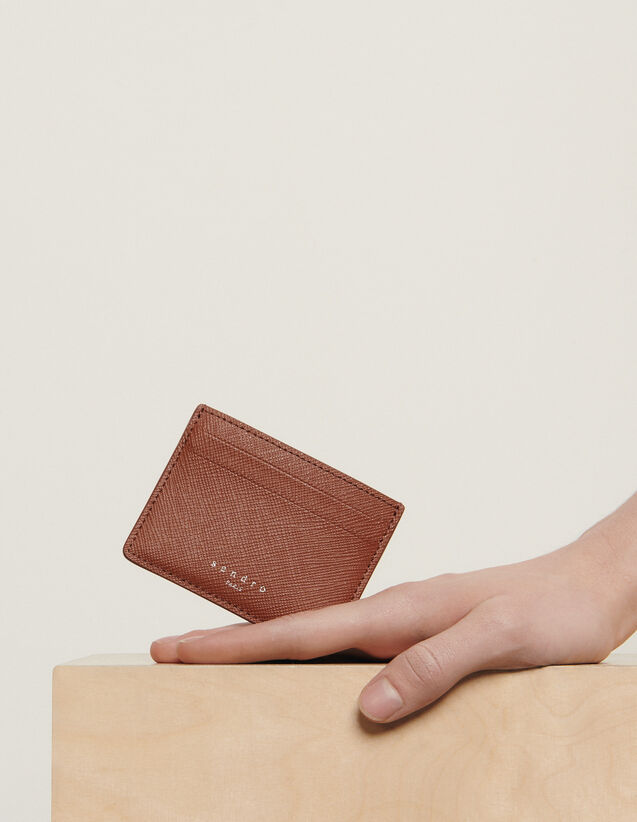 Leather Card Holder : Leather Goods color Black